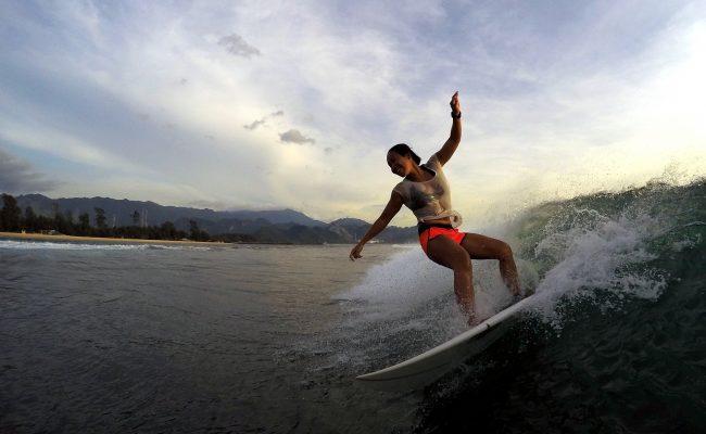 surfing ona