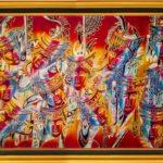 Obraz batikowy